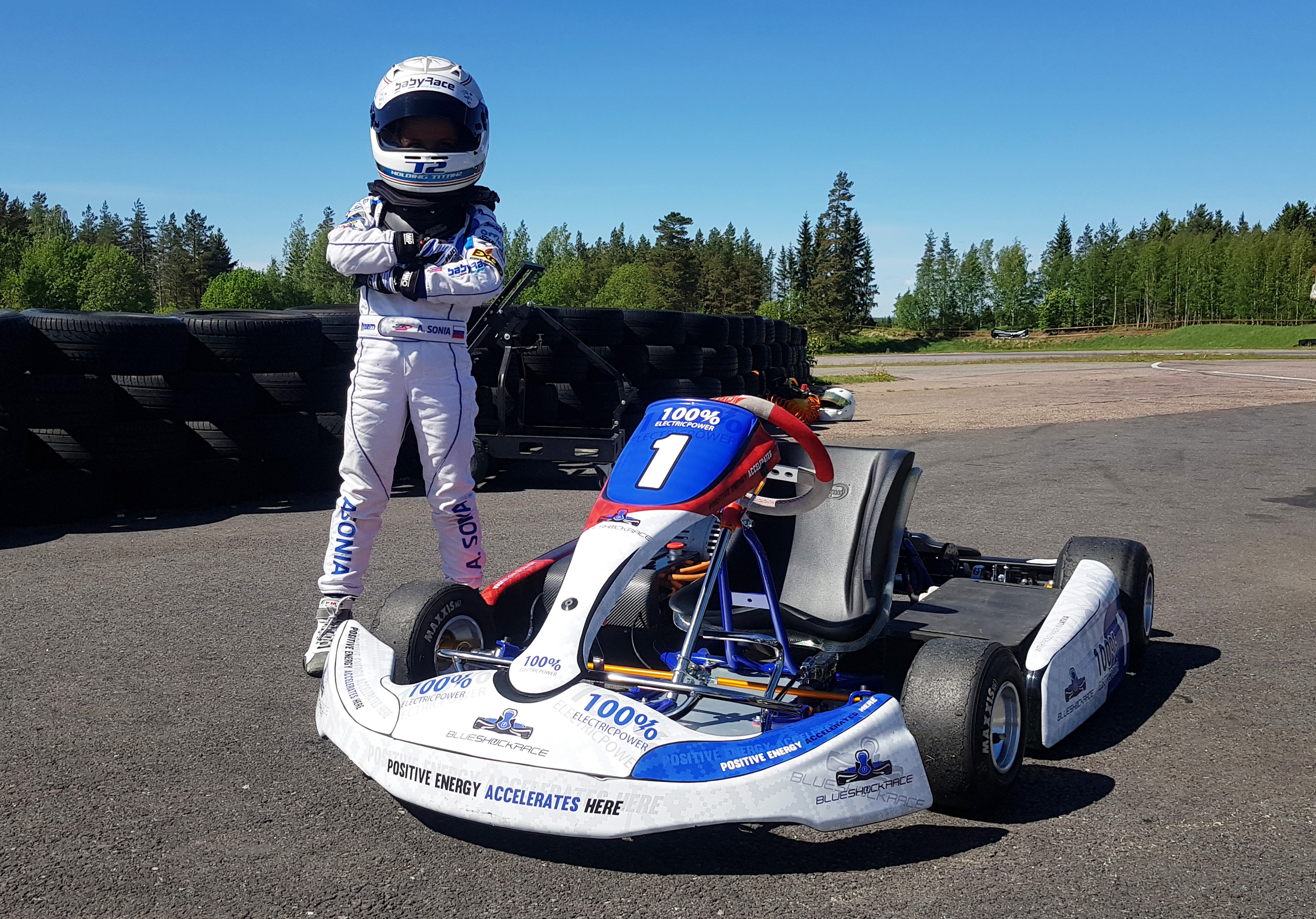 Baby race electric kart championship finland