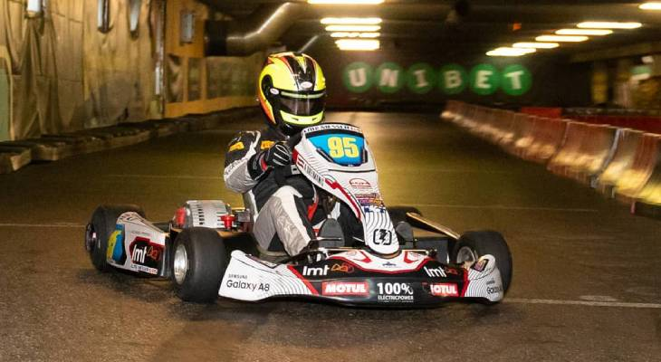 Electric racing kart for sales Formula pilot Sten Pentus