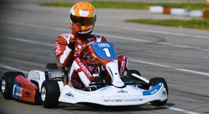 Electric kart championship Valters Zviedris