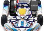 kids electric racing kart blue shock race