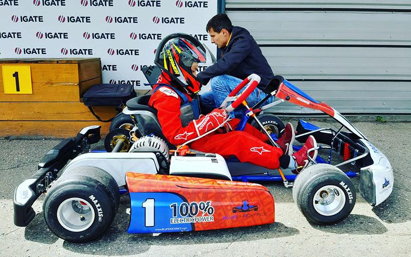 Blue Shock Race kids karts championship
