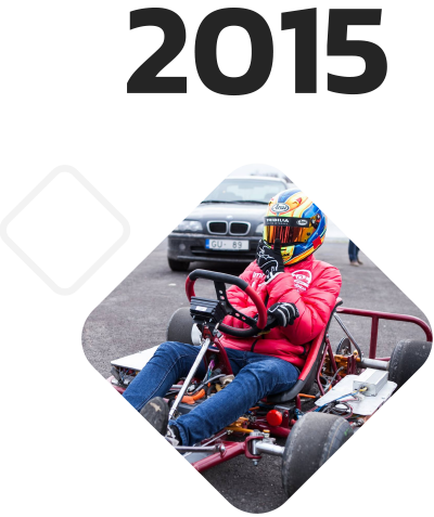 Electric Go-karts Blue Shock Race 2015
