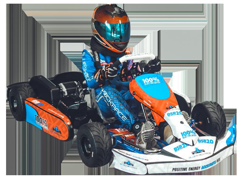 Blue Shock Race electric kart for kids 1