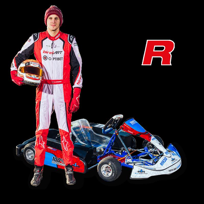 Blue Shock Race electric race kart V Zviedris